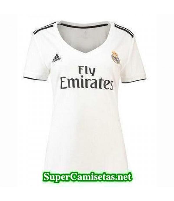 Primera Equipacion Camiseta Real Madrid Mujer 2018...