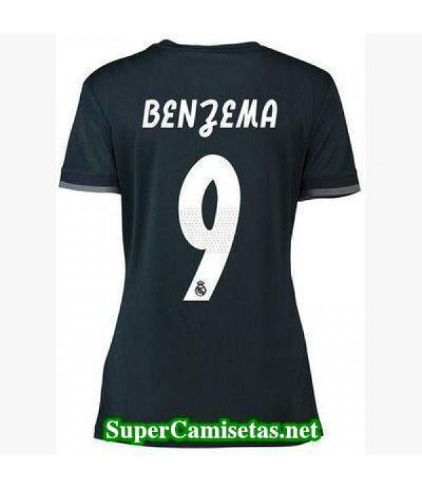 Segunda Equipacion Camiseta Real Madrid Mujer Benzema 2018/19
