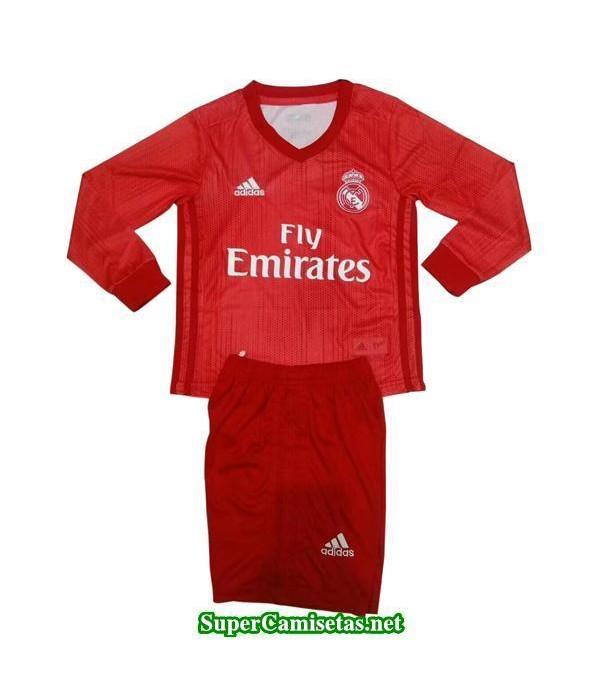 Tercera Equipacion Camiseta Real Madrid ML Ninos 2018/19