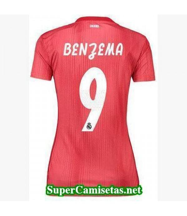Tercera Equipacion Camiseta Real Madrid Mujer Benzema 2018/19