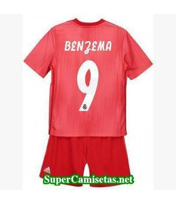 Tercera Equipacion Camiseta Real Madrid Ninos Benzema 2018/19
