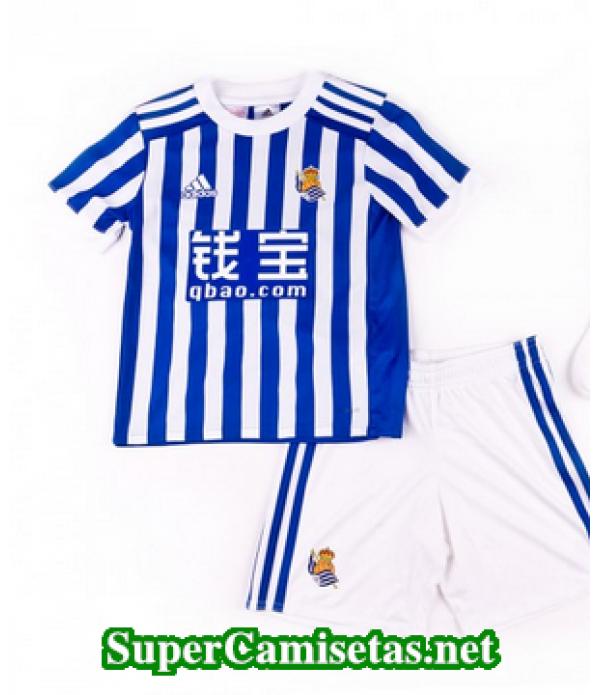 Primera Equipacion Camiseta Real Sociedad Ninos 2017/18