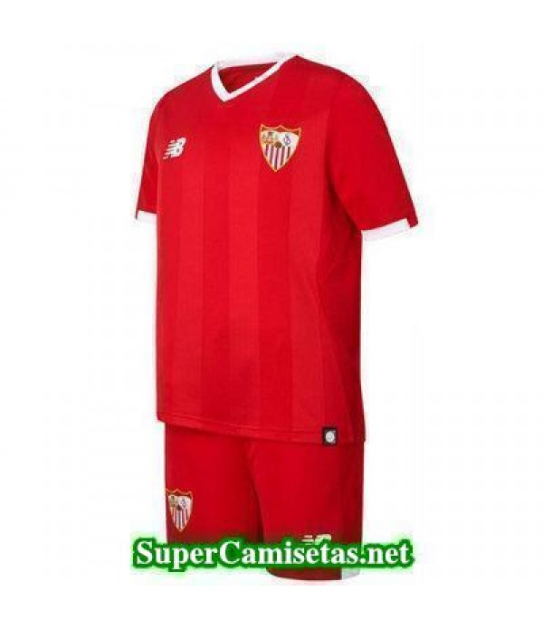 Segunda Equipacion Camiseta Sevilla Ninos 2017/18
