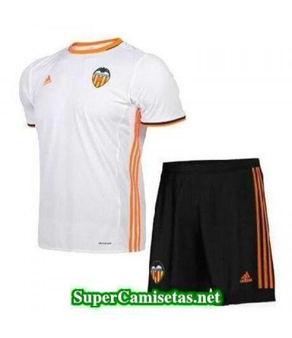 Primera Equipacion Camiseta Valencia Ninos 2016/17