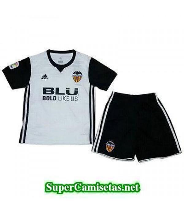 Primera Equipacion Camiseta Valencia Ninos 2017/18