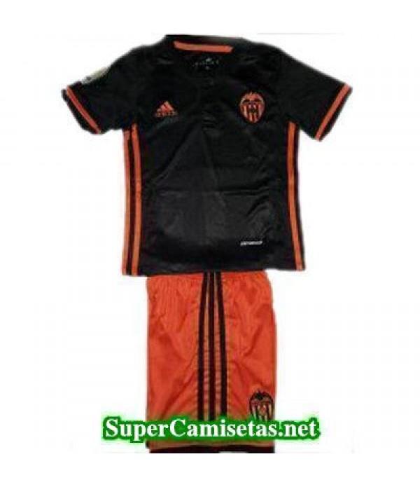Segunda Equipacion Camiseta Valencia Ninos 2016/17