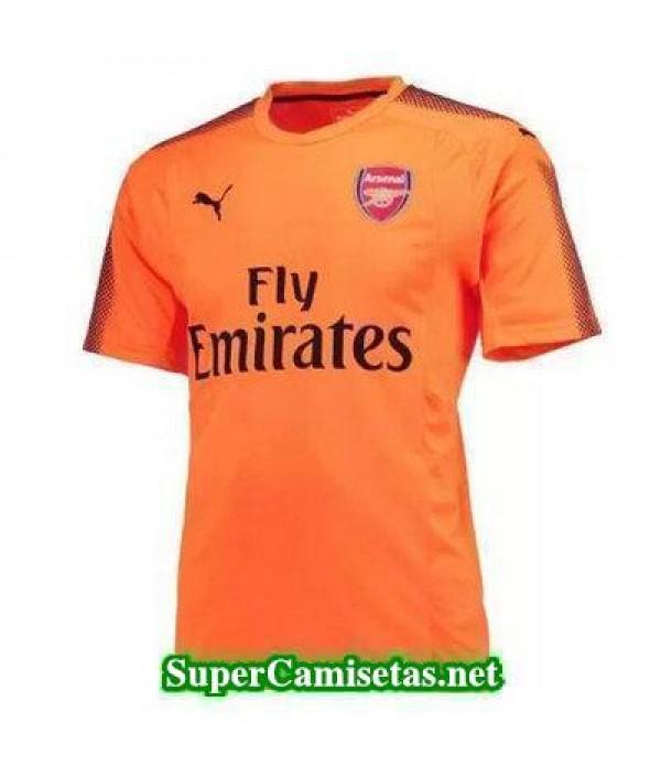 Portero Equipacion Camiseta Arsenal Naranja 2017/1...