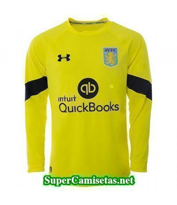 Portero Equipacion Camiseta Aston villa Manga Larga amarillo 2016/17
