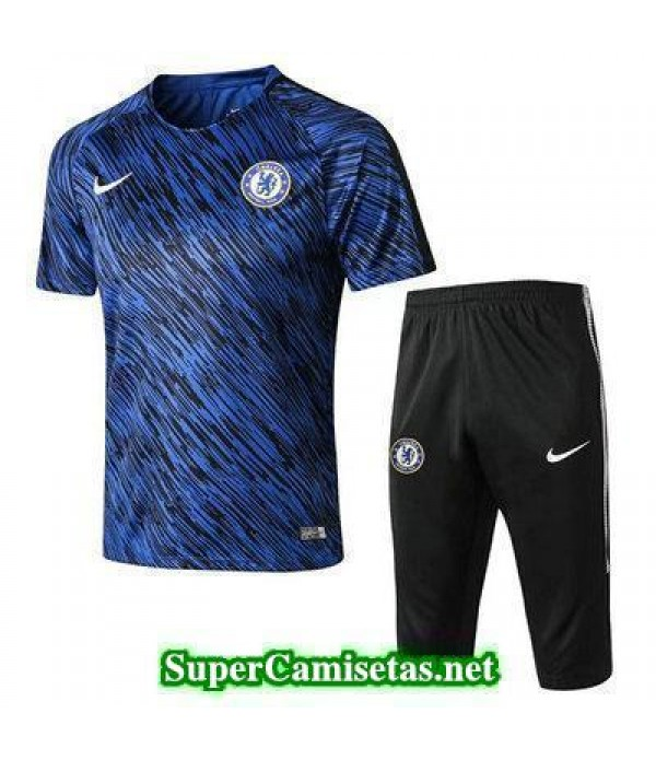 camiseta entrenamiento Chelsea Azul 2018 2019   supercamisetas 40f3718293522