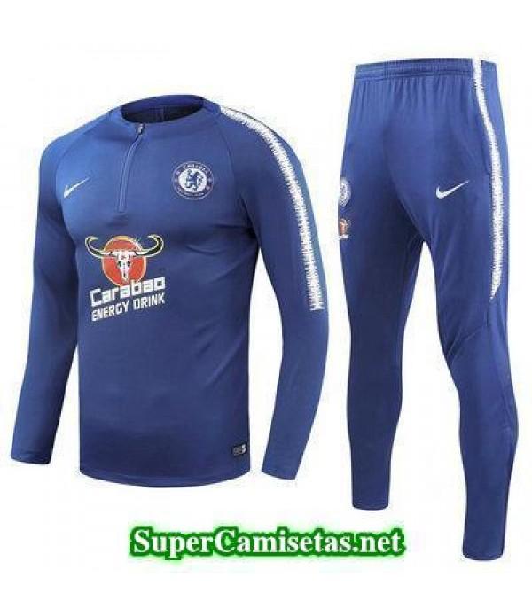 Camiseta entrenamiento Chelsea ML Azul 2018 2019
