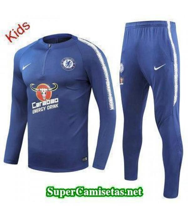 Camiseta entrenamiento Chelsea Ninos ML Azul 2018 ...