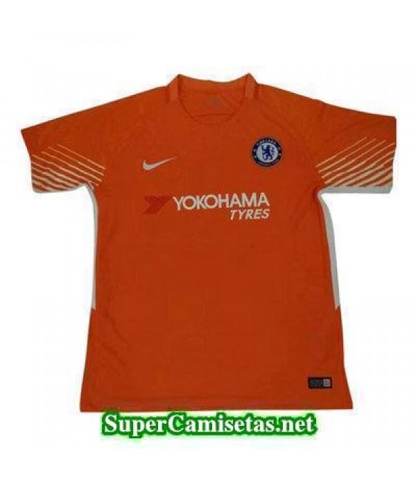 Portero Equipacion Camiseta Chelsea Naranja 2017/1...