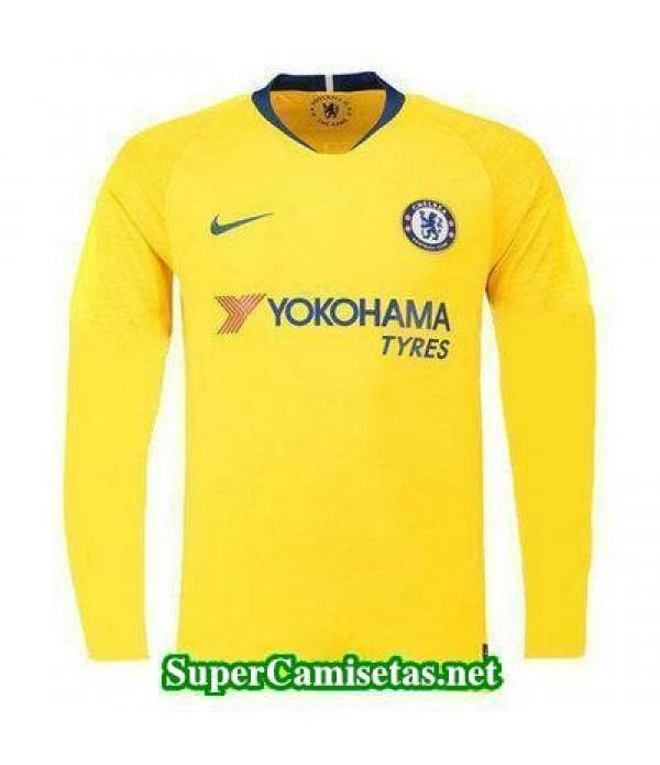 Segunda Equipacion Camiseta Chelsea Manga Larga 20...