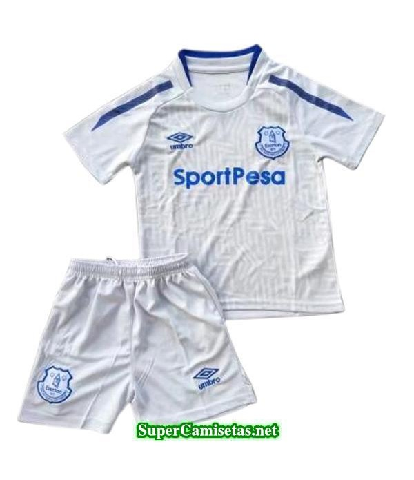 Segunda Equipacion Camiseta Everton Ninos 2017/18