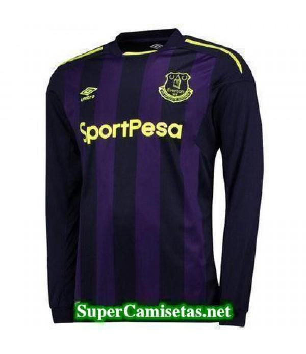 Tercera Equipacion Camiseta Everton Manga Larga 2017/18