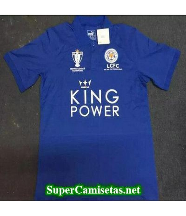 Camiseta polo Leicester City Azul 2016 2017