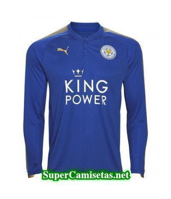 Primera Equipacion Camiseta Leicester City Manga Larga 2017/18