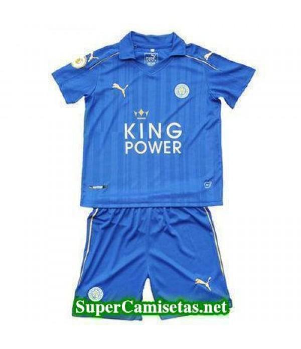 07e33ef85b031 Primera Equipacion Camiseta Leicester City Ninos 2016-2017 ...