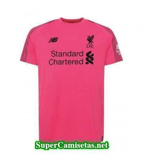 Portero Equipacion Camiseta Liverpool Rosa 2018/19