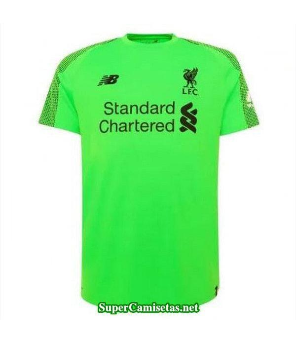 Portero Equipacion Camiseta Liverpool Verde 2018/1...