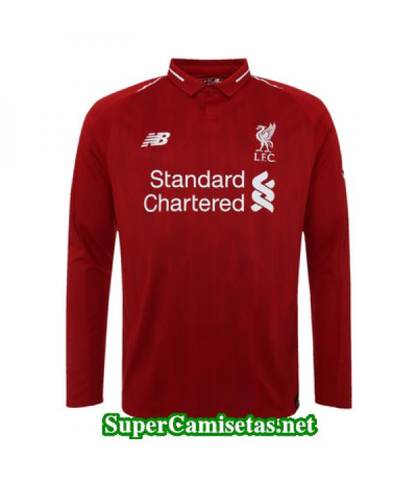 Primera Equipacion Camiseta Liverpool Manga Larga 2018/19