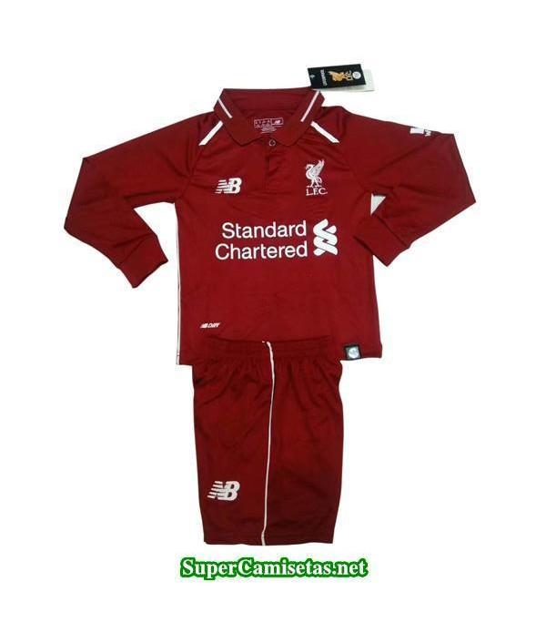 Primera Equipacion Camiseta Liverpool ML Ninos 201...