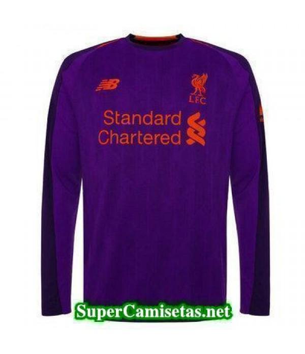 Segunda Equipacion Camiseta Liverpool Manga Larga 2018/19