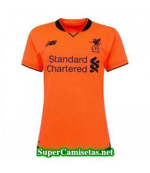 Tercera Equipacion Camiseta Liverpool Mujer 2017/1...