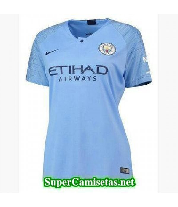Primera Equipacion Camiseta Manchester City Mujer 2018/19