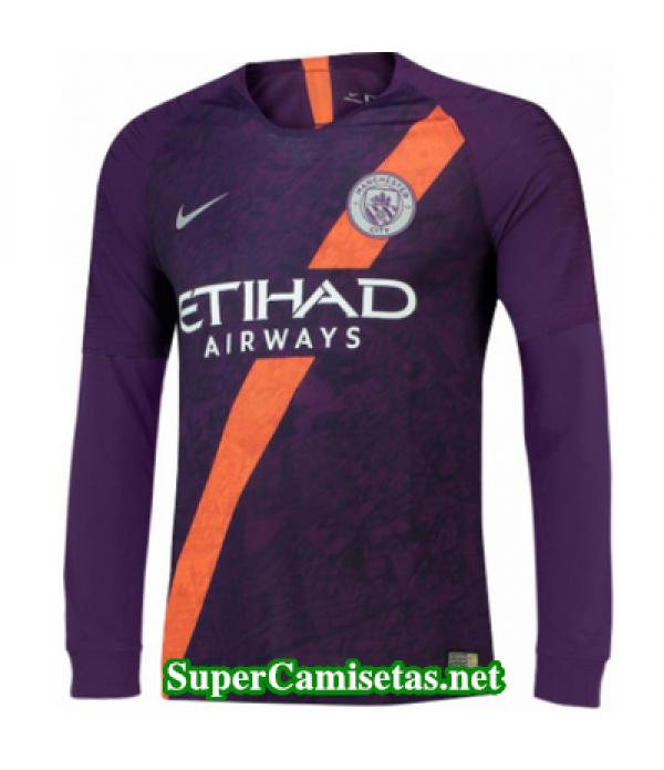 Tercera Equipacion Camiseta Manchester City Manga Larga 2018/19