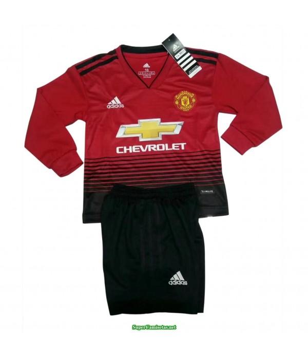 Primera Equipacion Camiseta Manchester United ML Ninos 2018/19