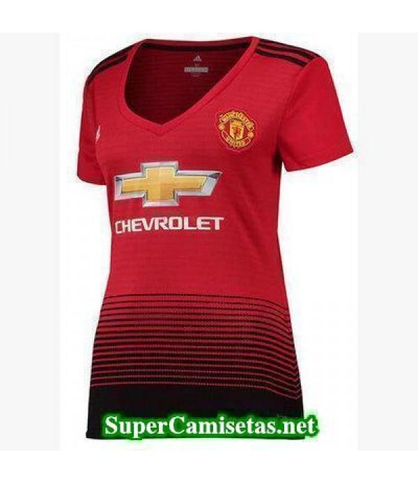 Primera Equipacion Camiseta Manchester United Mujer 2018/19