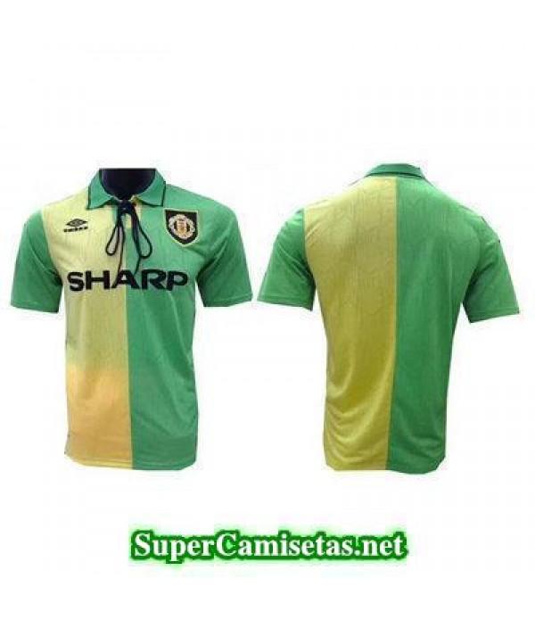 Tailandia Camiseta Manchester United clasicas Verde 1992-1994