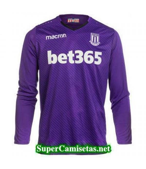Portero Equipacion Camiseta Stoke City Manga Larga purpura 2017/18