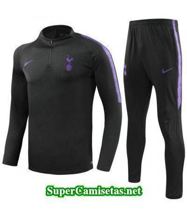 Camiseta entrenamiento Tottenham ML Negro 2018 201...