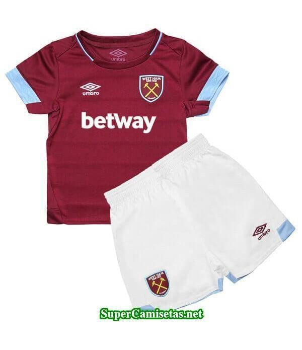 Primera Equipacion Camiseta West Ham Ninos 2018/19