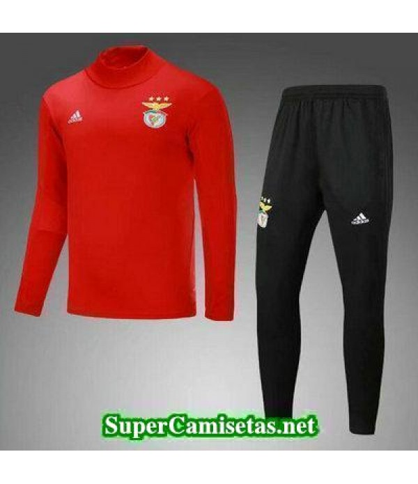 Camiseta entrenamiento Benfica ML rojo-01 2017 2018