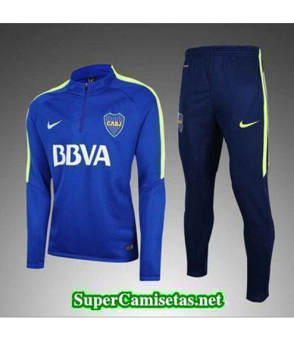 Camiseta entrenamiento Boca Juniors ML azul 2017 2018