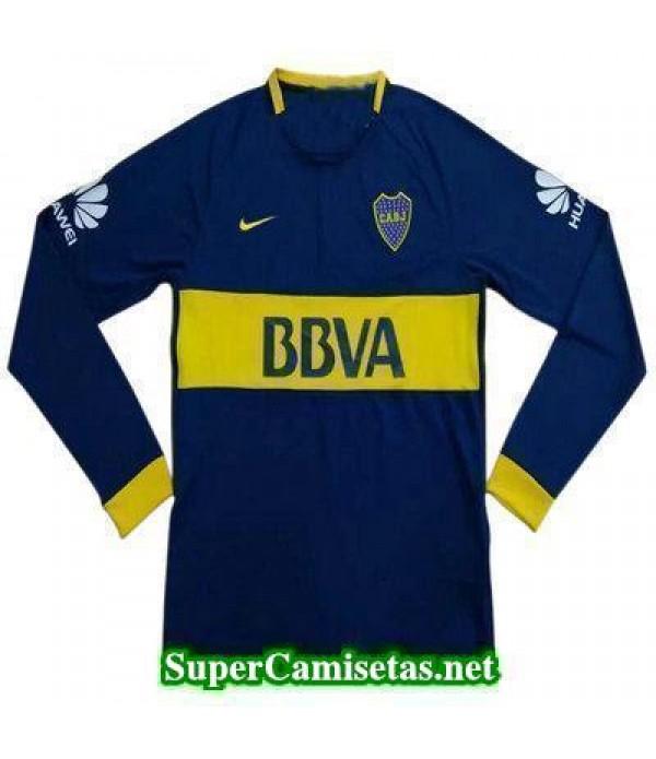 Primera Equipacion Camiseta Boca Juniors Manga Larga 2017-2018 ... fc8d6b322cc2d