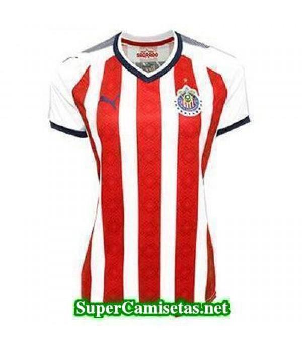 Primera Equipacion Camiseta Chivas de Guadalajara Mujer 2017/18