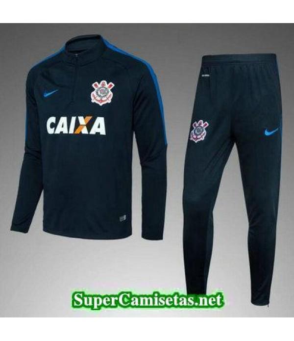 Camiseta entrenamiento Corinthians ML Azul oscuro 2017 2018