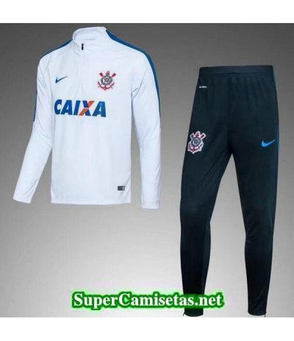 Camiseta entrenamiento Corinthians ML blanco 2017 2018