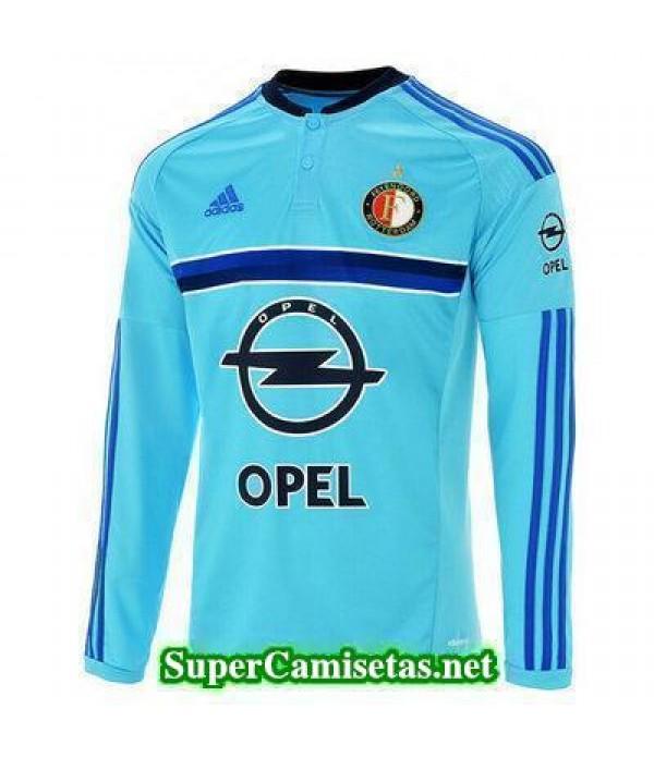 Segunda Equipacion Camiseta Feyenoord Manga Larga 2016/17