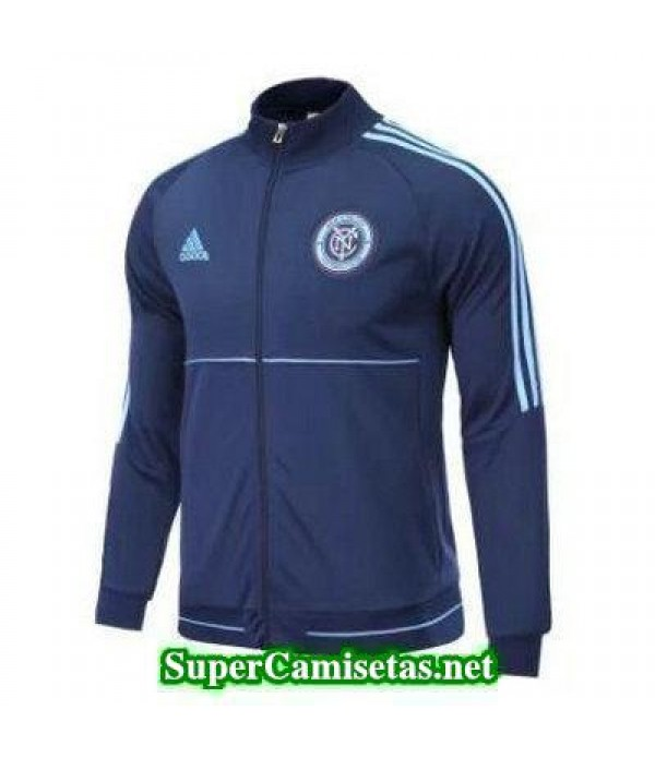 Chaquetas New York City azul 2017 2018 baratas