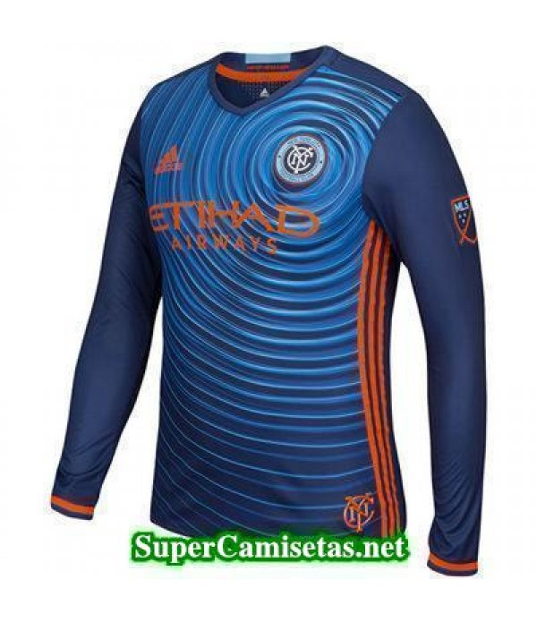Segunda Equipacion Camiseta New York City Manga Larga 2016/17