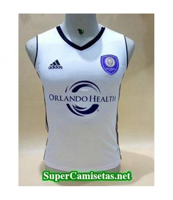 camiseta chaleco Orlando City Blanco 2017 2018
