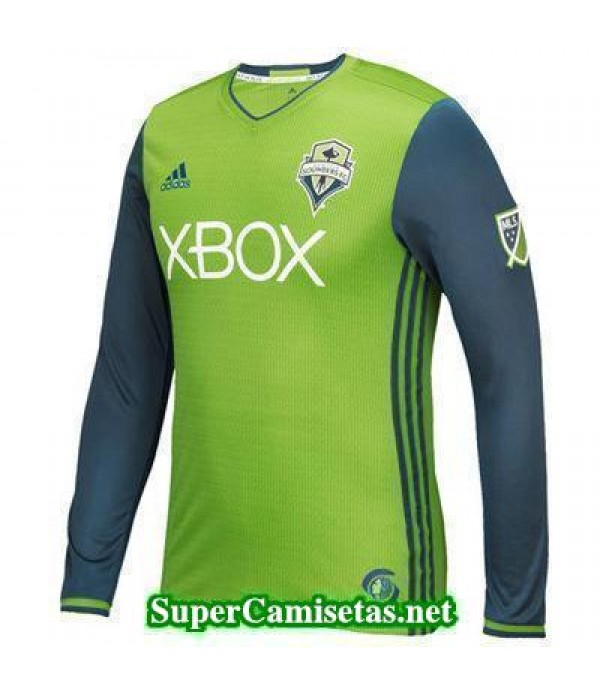 Primera Equipacion Camiseta Seattle Sounders Manga Larga 2016/17