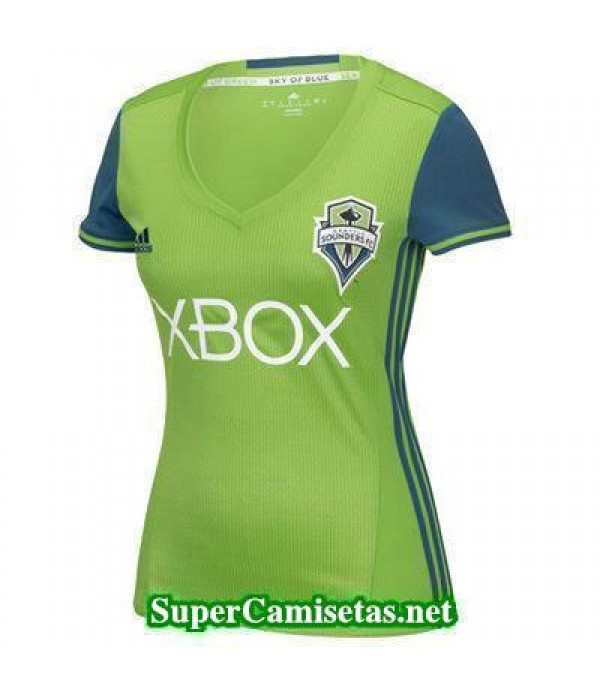 Primera Equipacion Camiseta Seattle Sounders Mujer 2016/17