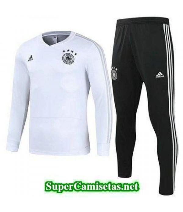 camiseta entrenamiento Alemania ML Blanco 2018 2019
