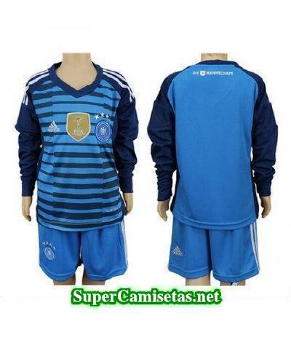 Portero Equipacion Camiseta Alemania ML Ninos Copa...